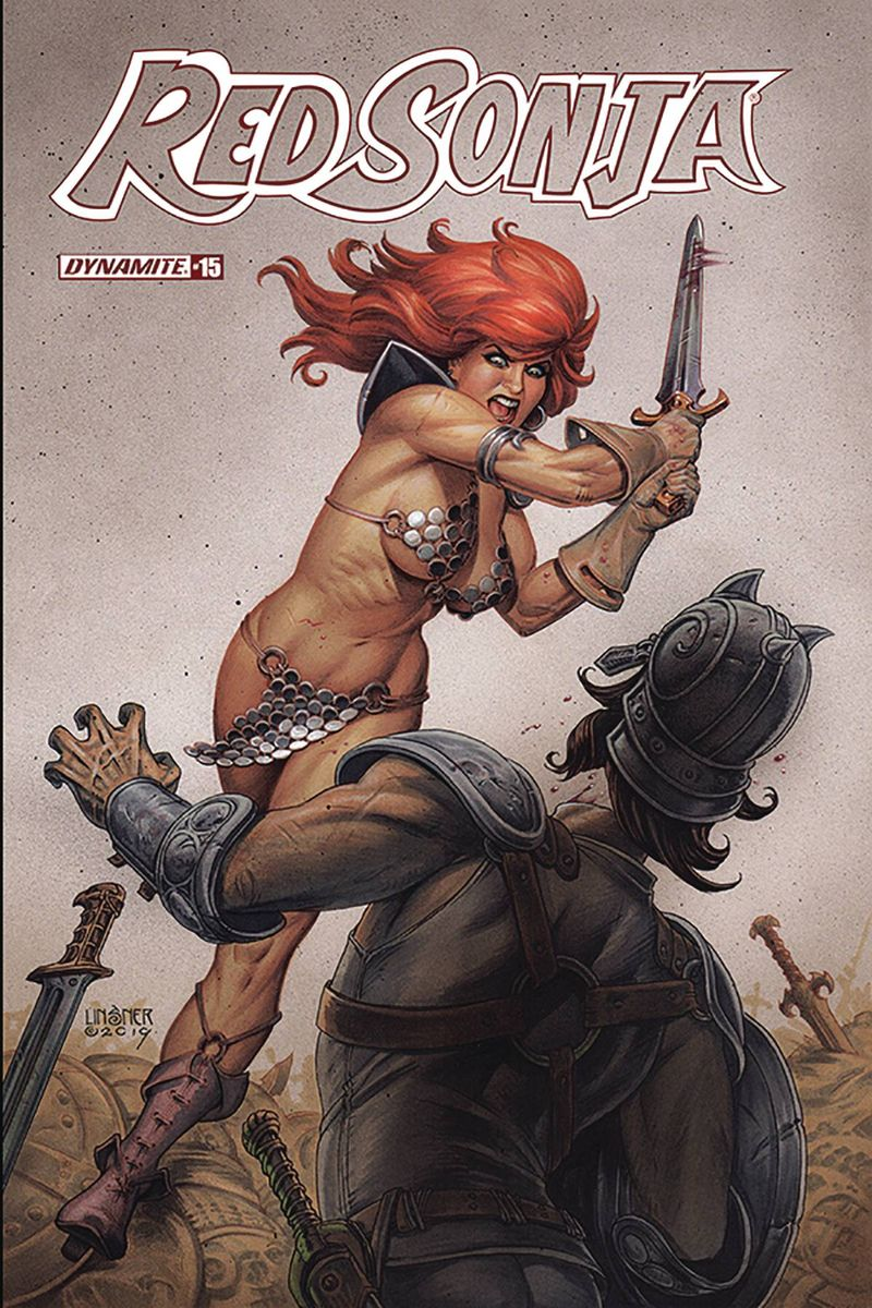 RED SONJA #15 COVER B LINSNER