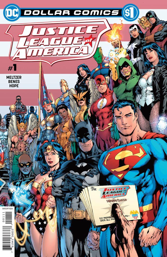 DOLLAR COMICS JUSTICE LEAGUE OF AMERICA #1 2006 + 1 Adet Yerli Karton ve Poşet